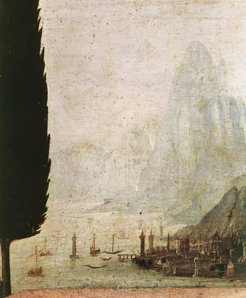 Leonardo da Vinci Annunciation detail4